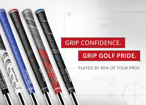 Grip Confidence. Grip Golf Pride. Played by 80% of Tour Pros